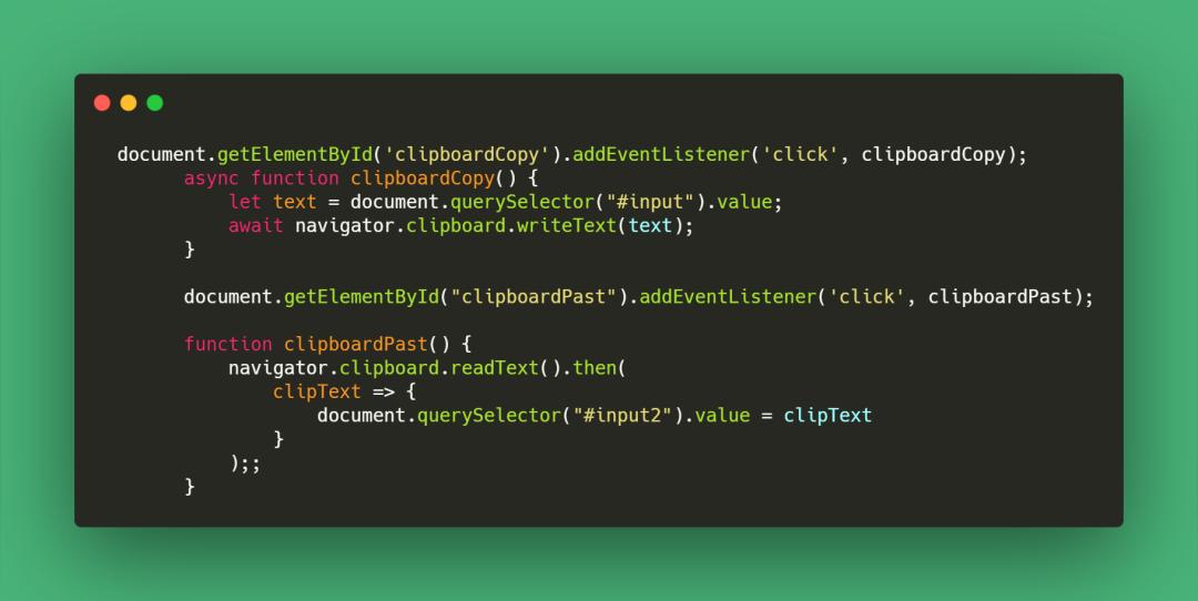 使用JavaScript 创建复制&粘贴按钮