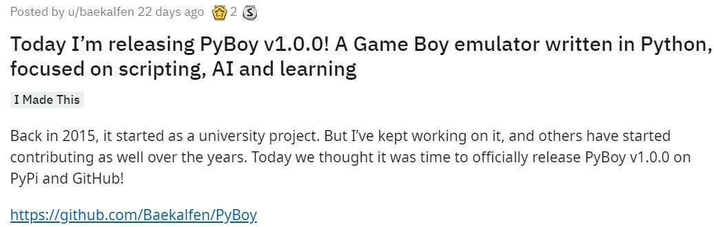 这个丹麦小哥的项目火了!他用Python写了个游戏机