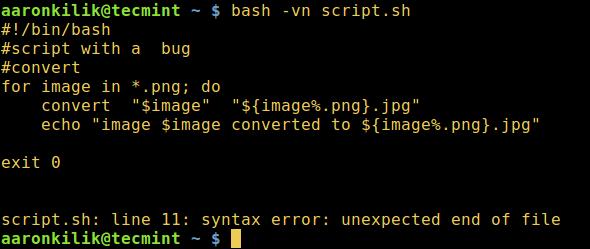 如何在Shell脚本中执行语法检查调试模式