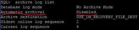 Oracle12C开启归档模式