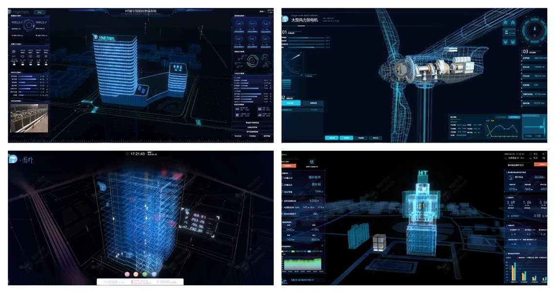 工业互联网可视化系统风格的抉择:线框模式之 3D 数据中心机房的实现