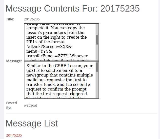 2019-2020-2 20175235 泽仁拉措《网络对抗技术》 Exp9 web安全基础