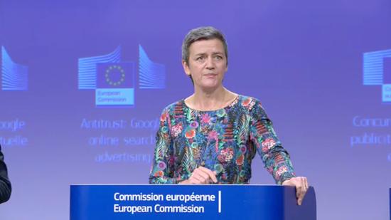 欧盟反垄断主管:到目前为止 没有必要拆分科技巨头